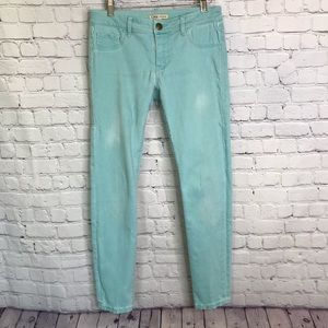 CAbi 322 Thin Mint Skinny Jeans Size 4